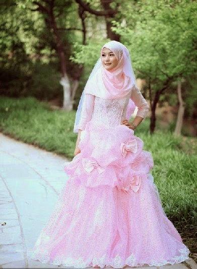 20 Contoh Model Baju Pengantin Muslim Pink Kumpulan Model Baju