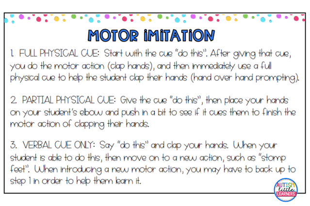 Motor Imitation for Children With Autism