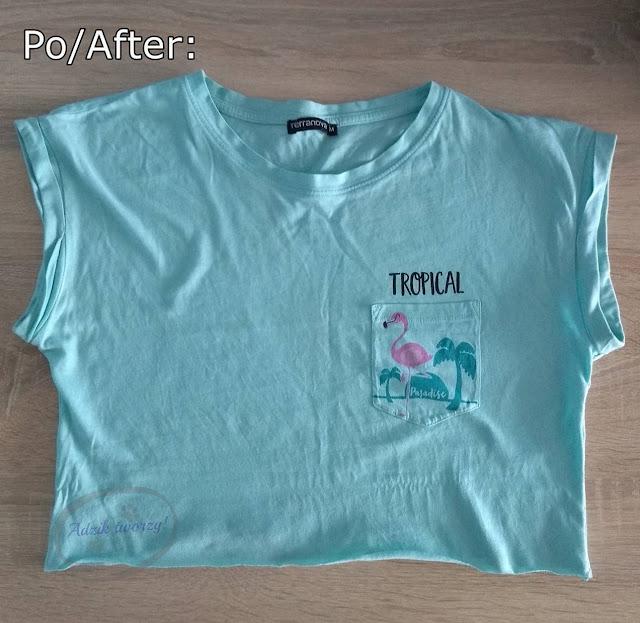 Crop top DIY bez szycia - przeróbka t-shirtu - Adzik tworzy
