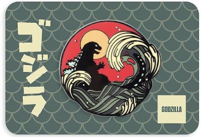 San Diego Comic-Con 2021 Exclusive Godzilla Enamel Pin by Sam Wolfe Connelly x Mondo