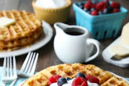 Waffles recipe at Christmas time