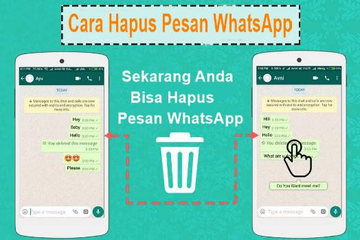 Cara Menghapus Pesan WhatsApp yang Dikirim Karena Kesalahan