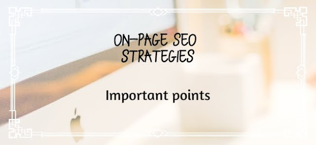 On-page SEO | 4 important facts