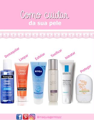 cuidar da pele em 5 passos simples