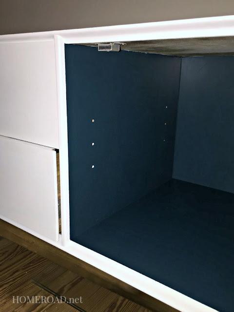 Mid Century pop of color furniture makeover. Homeroad.net
