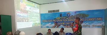Koramil 1207-10/Terentang Sosialisasi Program Desa Mandiri Menuju Langit Biru di Bumi Khatulistiwa