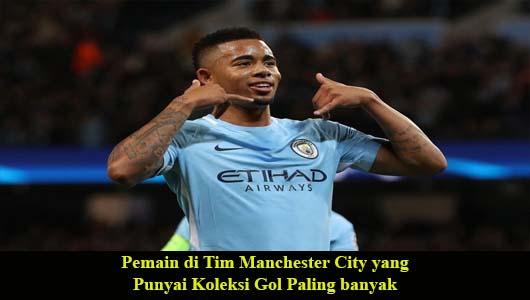 Pemain di Tim Manchester City yang Punyai Koleksi Gol Paling banyak