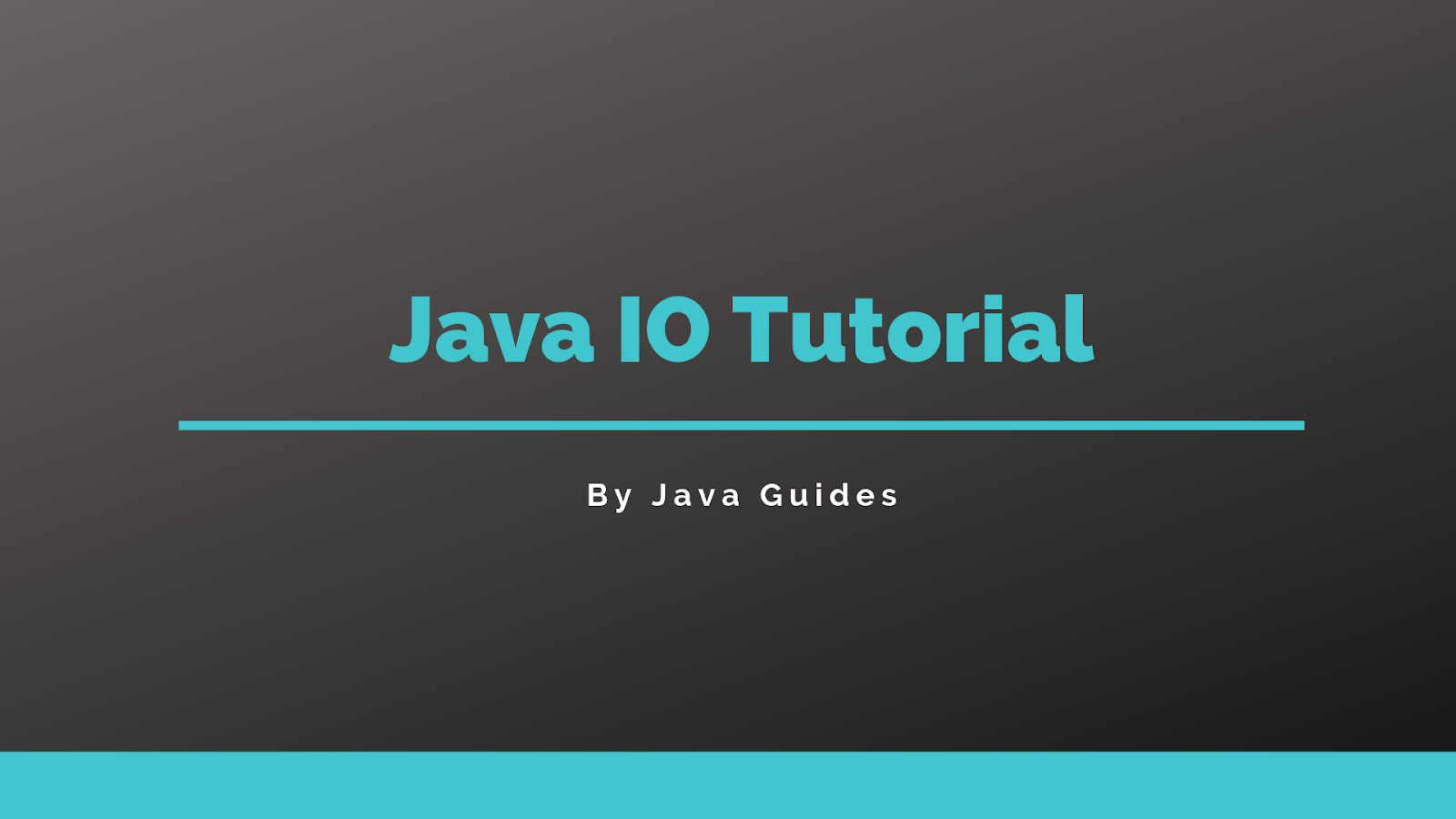 Java Input Output Tutorial with Examples