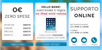 Hello Bank! Ti Regala l'iPad Mini Retina