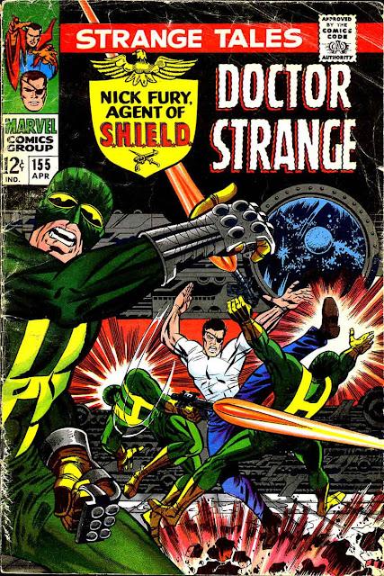 Strange Tales v1 #155 nick fury shield comic book cover art by Jim Steranko