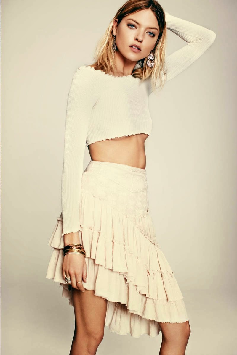Martha Hunt for Free People's March LookBook  Anna Palma