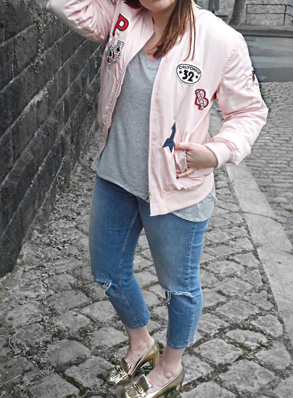 See more for styling tips on how to wear the basic bomber