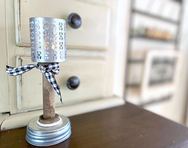 How to Make Pedestal Tea Light Candles from Junk