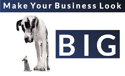 how to make business look bigger