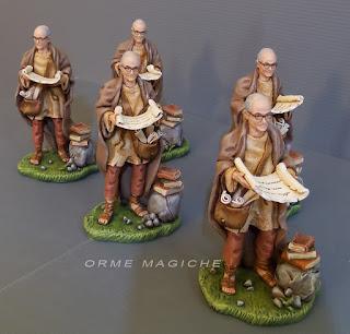 statuette presepe studioso con pergamene statuine con volto personalizzato realizzate a mano milano orme magiche