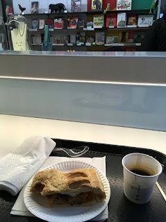 Coffee & sweet pie for my brunch