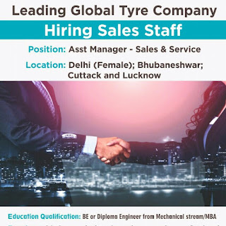 BE or Diploma and MBA Candidates Required For Asst Manager Position Delhi, Bhubaneshwar, Cuttack and Lucknow Location