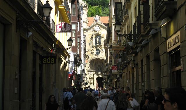 Donostia, carrers estrets