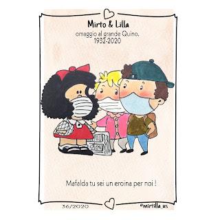 Addio QUINO,  il papà di Mafalda