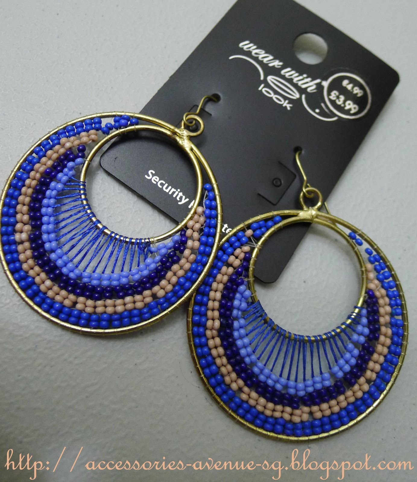 Accessories Avenue: New Look Beaded Round Earrings