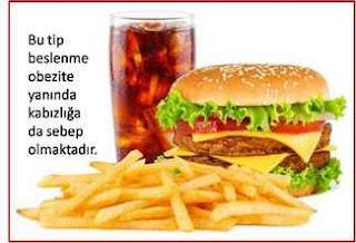 kabızlık fast food