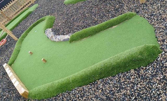 Mini Golf course at Parc Bryn Bach in Tredegar, Wales. Photo by Martyn Williams, June 2021