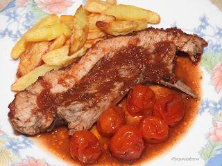 Carne de porc la cuptor cu sos de rosii retete,