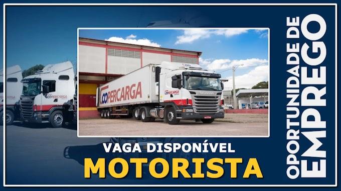 Transportadora Coopercarga  abre vagas para motorista carreteiro PCD