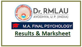RMLAU MA Psychology Final Result 2021
