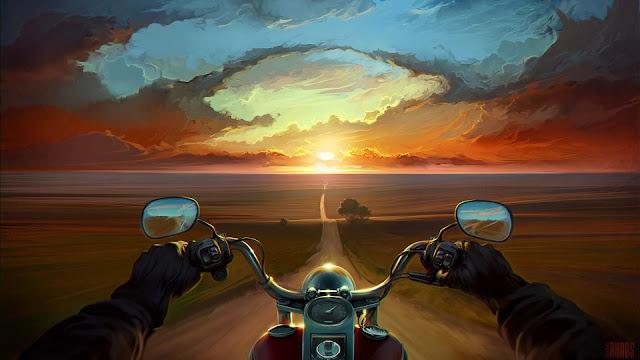 Biker-Logo-and-Art-Wallpaper-HD-4K