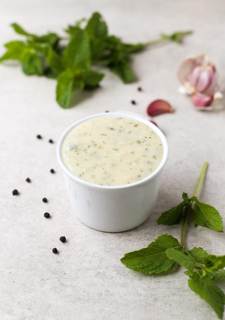Vegan Yoghurt Sauce   danceofstoves.com #vegan
