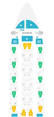 Qatar Airways Business Class Qsuites Seat Map