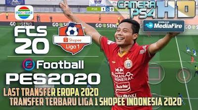 New Season 2020 FTS Mod PES 2020 Shopee Liga 1 Indonesia