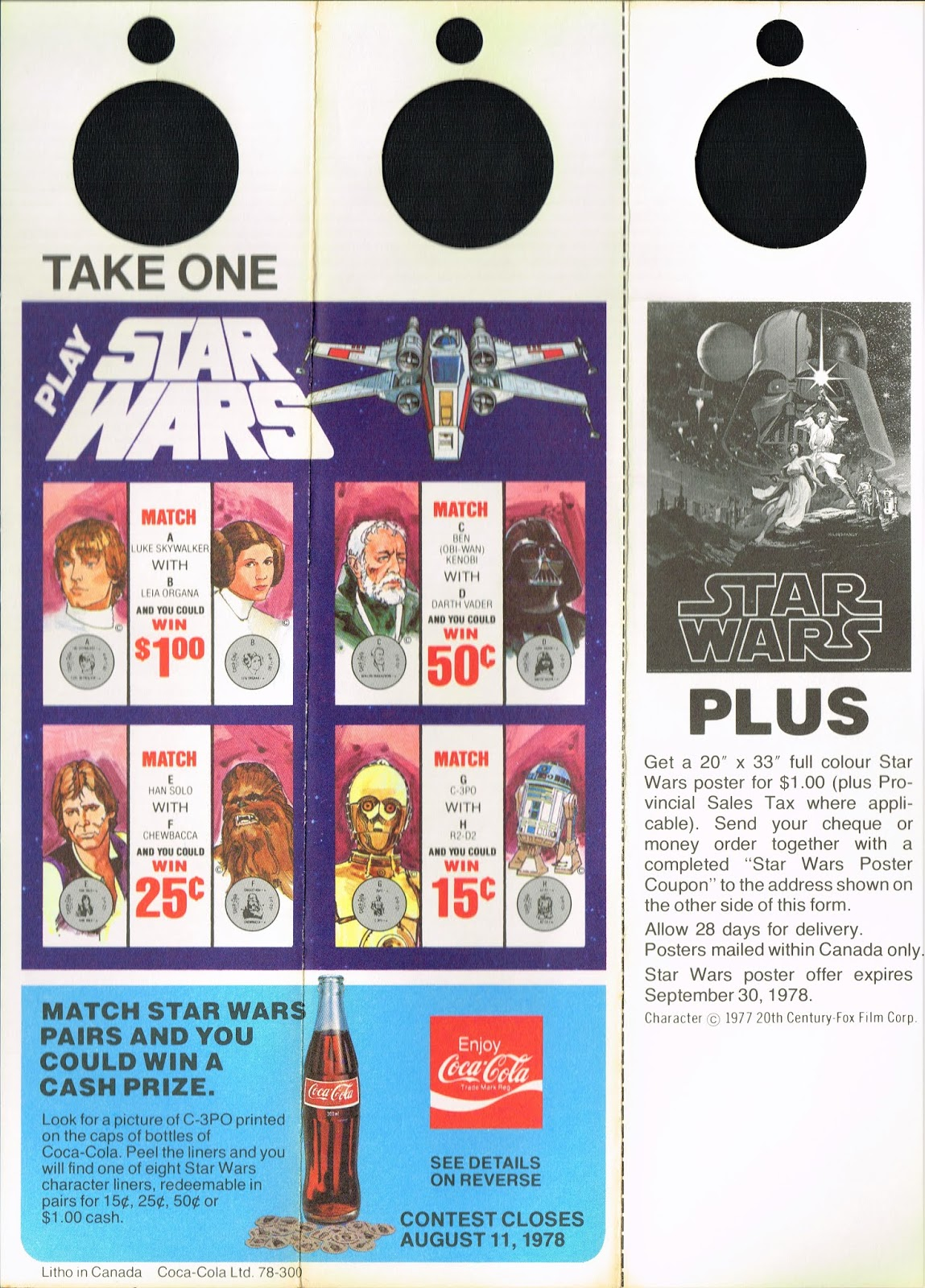 theswca blog: The Canadian Star Wars Coke Promotion of 1978