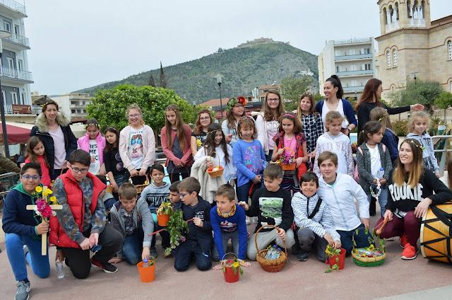 """Τα κάλαντα του Λαζάρου είπαν τα παιδιά της """"Ελληνικής Παράδοσης"""" στο Άργος"""