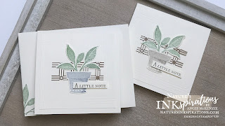 By Angie McKenzie for the Crafty Collaborations Technique Tuesday Blog Hop; Click READ or VISIT to go to my blog for details! Featuring the Stampin' Up! Plentiful Plants Bundle with the Kraft Paper Lattice from the 2021-2022 Annual Catalog; #justanotecard #stamping #papercrafting #techniquetuesday #techniquetuesdaybloghop #plentifulplants #perfectplants #paperlattice #scoring #scoredborders  #2021annualcatalog #cardtechniques #stampinup #diy #handmadecard #naturesinkspirations #makingotherssmileonecreationatatime
