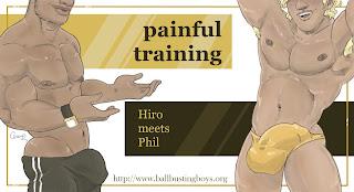 http://ballbustingboys.blogspot.com/2019/10/painful-training-hiro-meets-phil.html