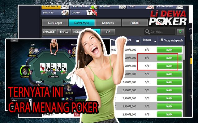 Cara menang poker online