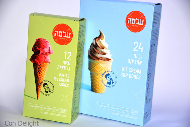 גביעי גלידה עלמה Alma ice cream cones