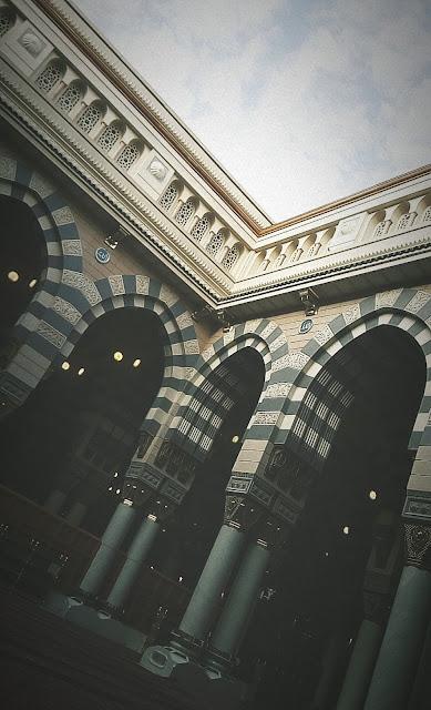 خلفية هاتف داخل المسجد النبوي