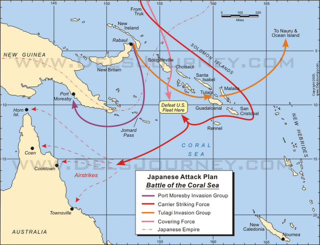 what happened at the battle of coral sea