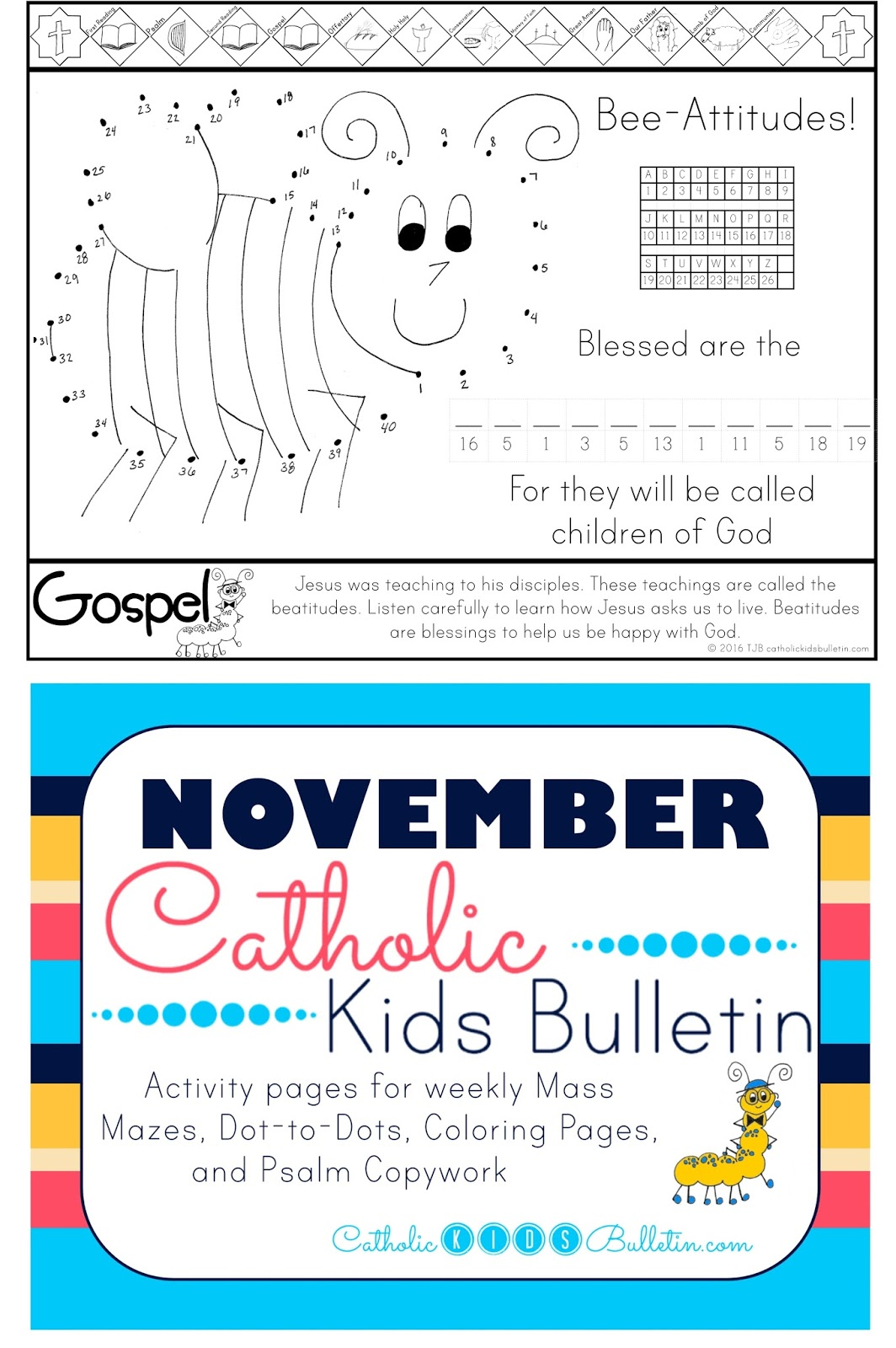 Catholic Kids Bulletin: Weekly Mass Prep for Kids! Beatitudes