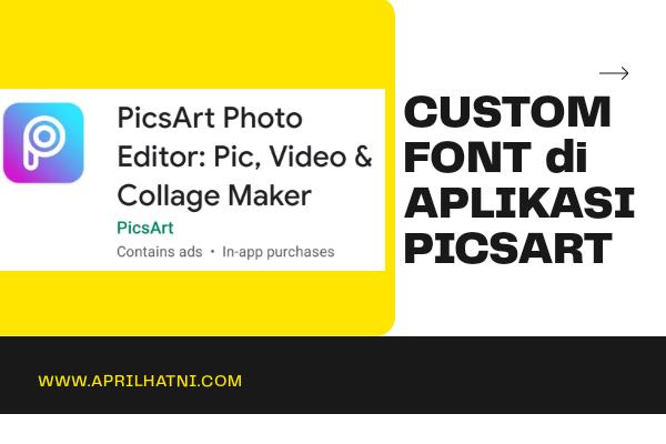 custom font di picsart