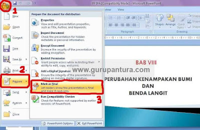 cara memberi password powerpoint dengan mark as final