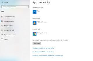 Reimposta app