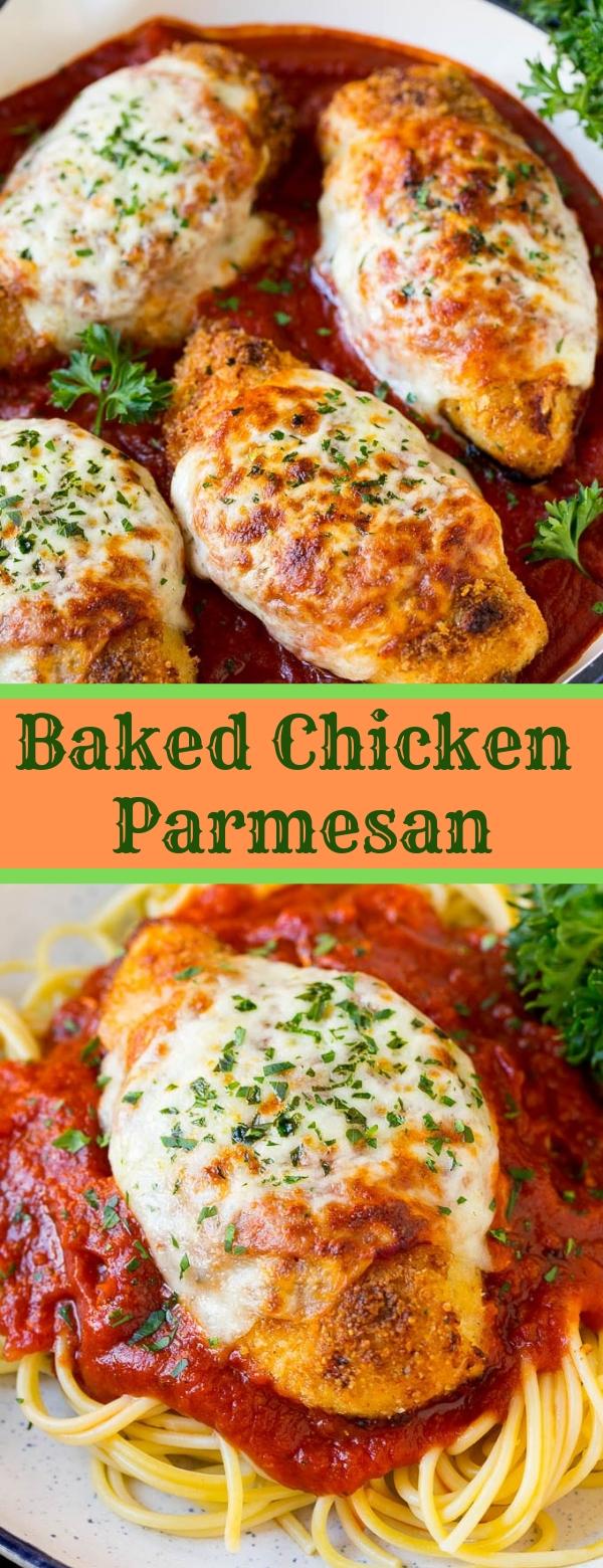Baked Chicken Parmesan #Chicken #Parmesan #dinner