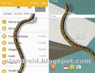 aplikasi menampakkan ular di layar android