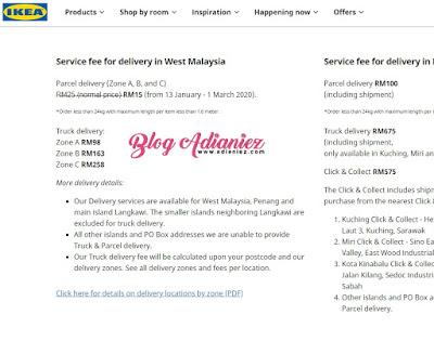 Parcel Delivery Ikea Hanya RM15 | Amat berbaloi untuk saya!