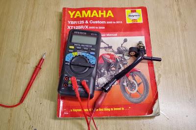 Yamaha YBR 125 Injector testing