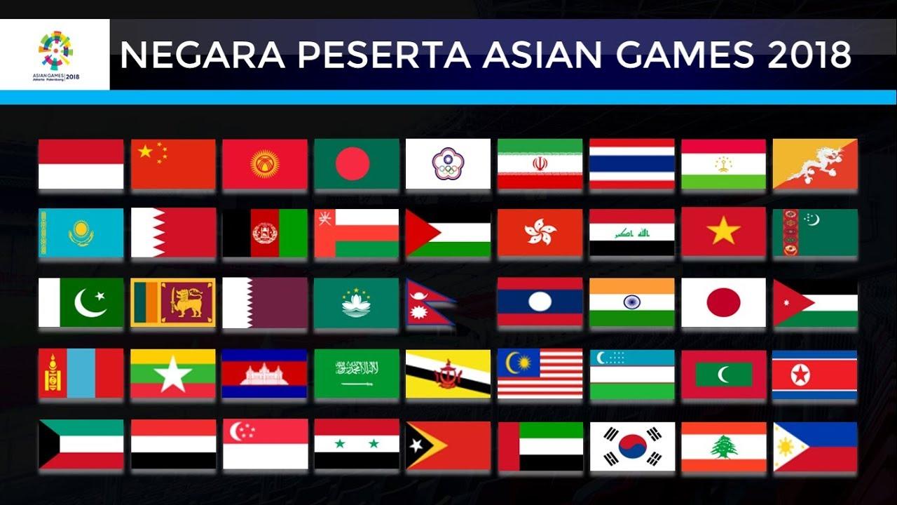 Daftar  Negara Peserta Asian Games  Di Indonesia